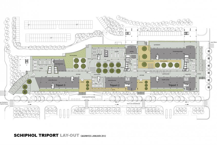 Schiphol triport m v d g - Lay outs grond helling ...